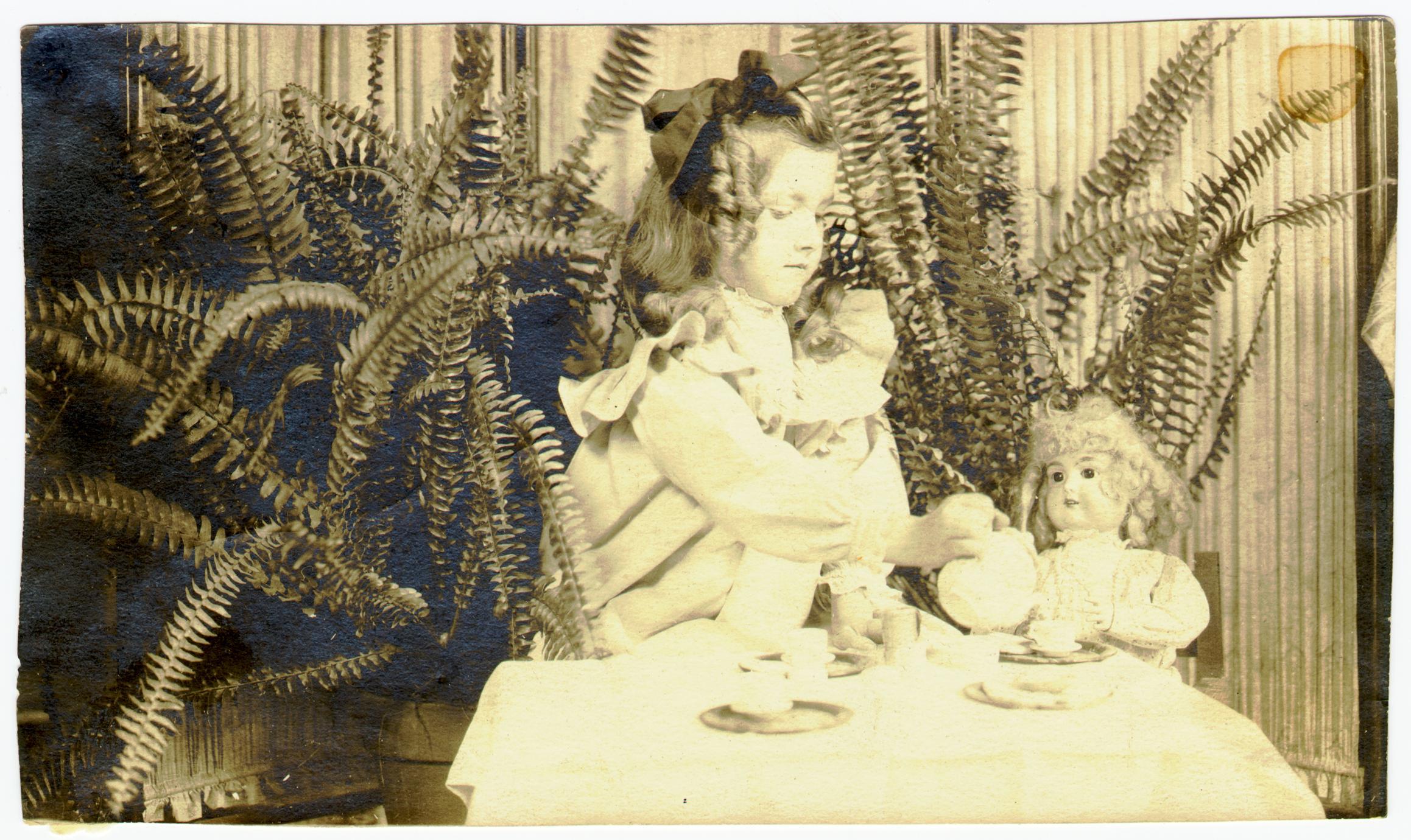 Helen Louise Allen as a girl