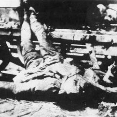 Bombed train.