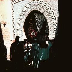 Carved Arch in the Souk in Marrakech