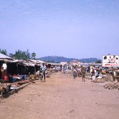 Main street of market