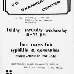 Poster - V.D. examination clinic