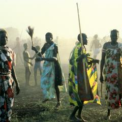 Women Dancing at a Nuer Wedding Party