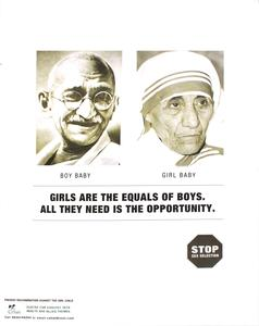 Girls are the equals of boys.
