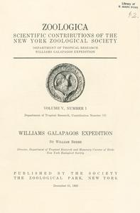 Williams Galapagos expedition