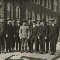 A commemoration photograph of a government inspection of Jeffery Quads