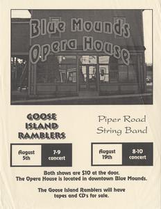 Goose Island Ramblers concert poster