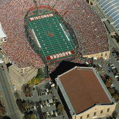 Aerial view of Camp Randall stadium