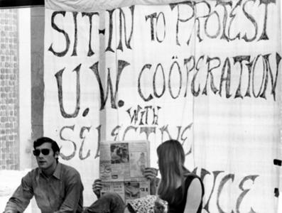 Sit-in at A. W. Peterson building