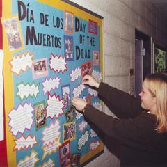 Dia de los muertos bulletin board display