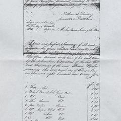 Inventory of the goods of Thomas Baker