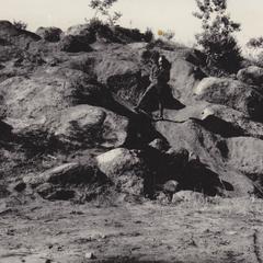 Disintegrated syenite boulders