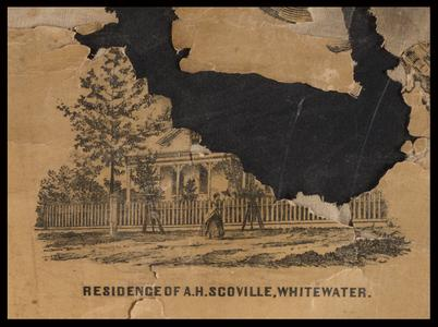 Residence of A. H. Scoville, Whitewater