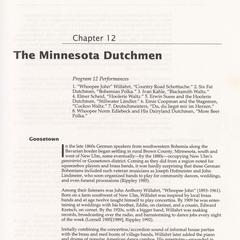 The Minnesota Dutchmen