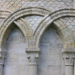 Christchurch Priory north transept arcade