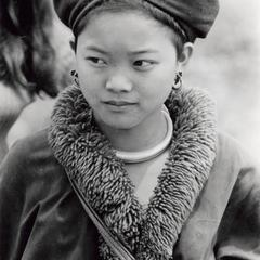 A Yao (Iu Mien) girl in traditional dress in the town of Nam Kheung in Houa Khong Province