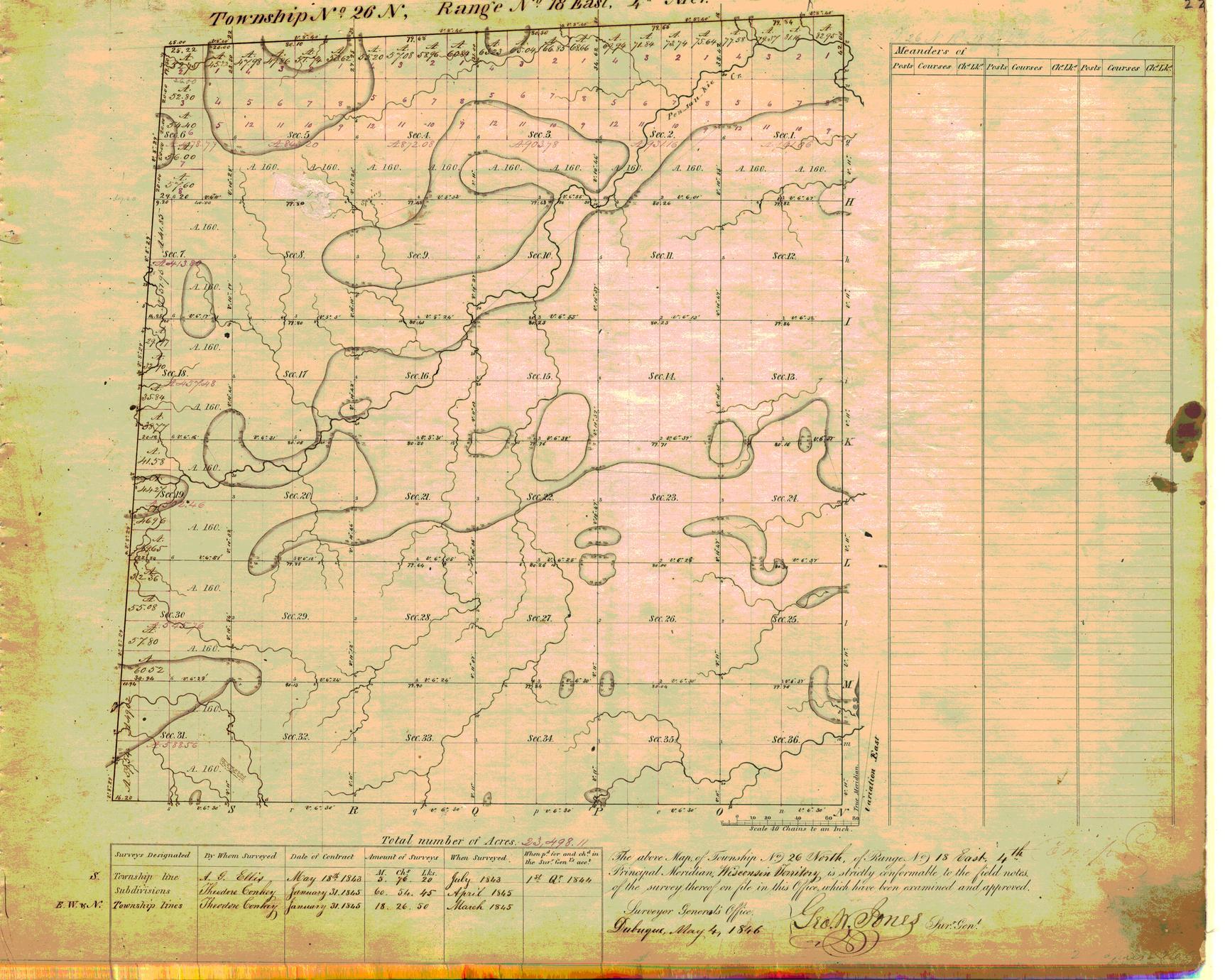 [Public Land Survey System map: Wisconsin Township 26 North, Range 18 East]