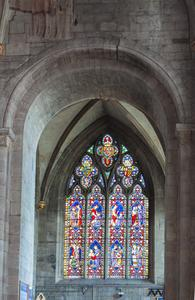 Hereford Cathedral choir aisle