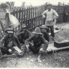Chinese litter bearers, Malolos, 1899