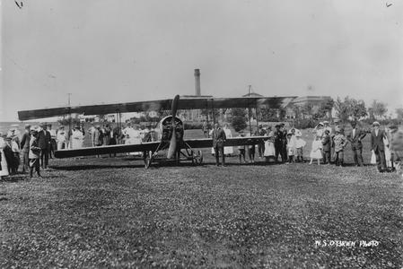 First Plane Landing, Waukesha, 1919