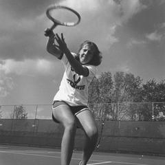 Women's tennis team player