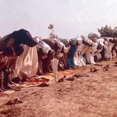 Muslim Men from Tumu Praying During Sallah