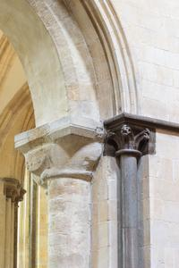 Chichester Cathedral interior nave arcade capitals
