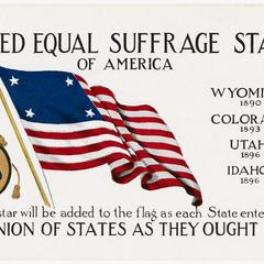 Four states, United Equal Suffrage States postcard