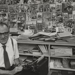 Robert Foss with his work