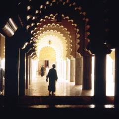 Interior Scene in the Great Mosque