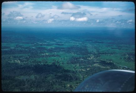 Approaching Vientiane from air--paddy fields