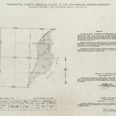 [Public Land Survey System map: Wisconsin Township 07 North, Range 13 East]
