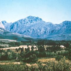 Landscape between Paarl and Stellenbosch