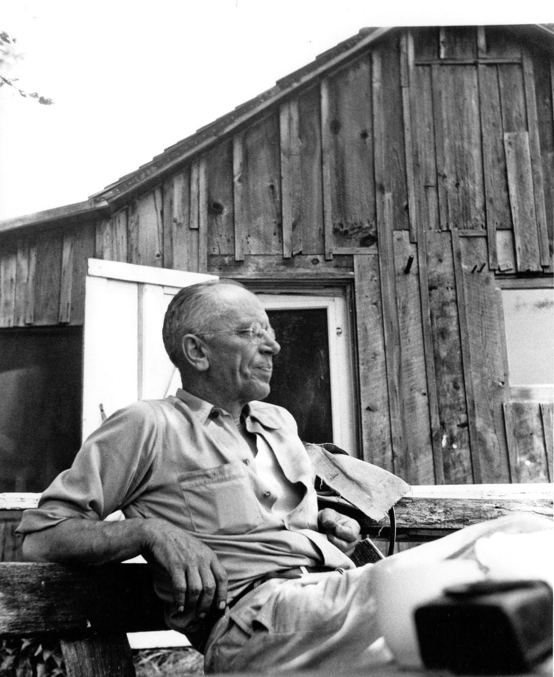 Aldo Leopold at the shack