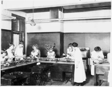 Home economics being taught to high school students