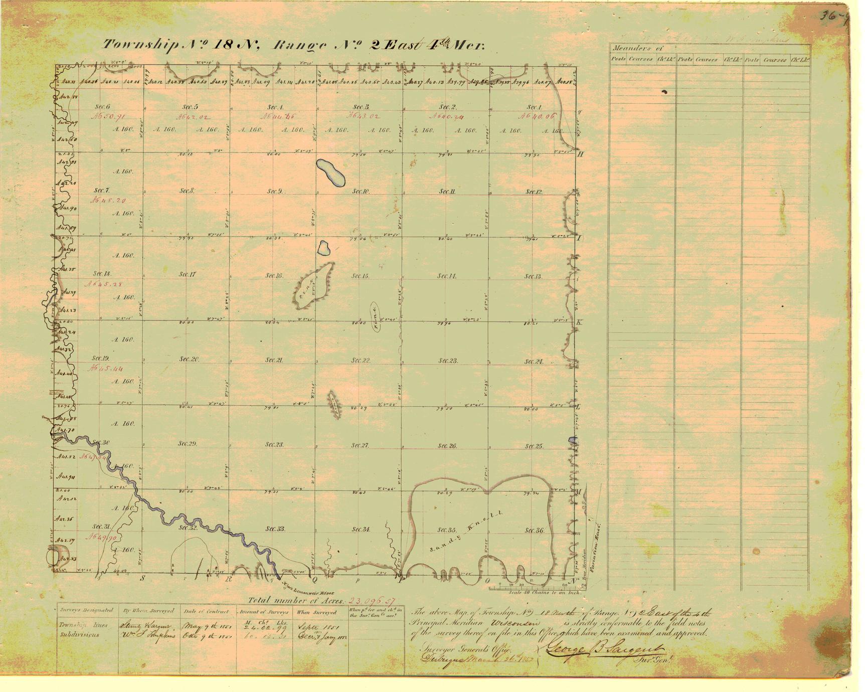 [Public Land Survey System map: Wisconsin Township 18 North, Range 02 East]