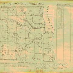 [Public Land Survey System map: Wisconsin Township 19 North, Range 13 East]