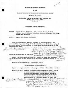 Kenneth Alan Shaw (1985-1991) : Minutes of the University of Wisconsin System Board of Regents