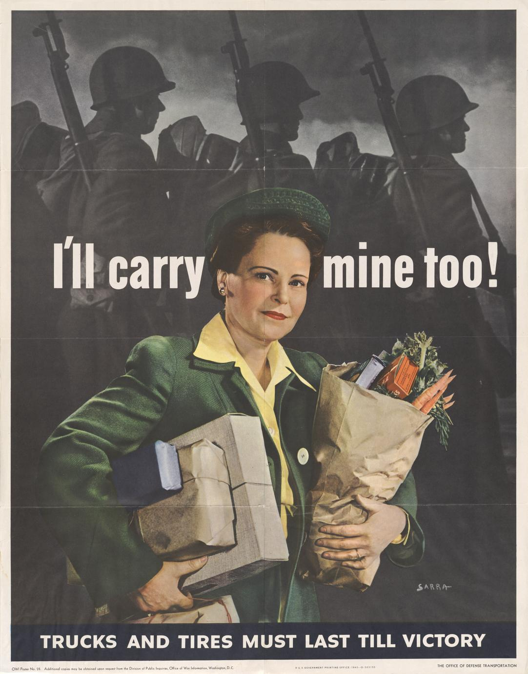 'I'll carry mine too!' war support poster