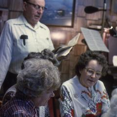 Clarence and Loretta Giese and neighbors sing old German songs