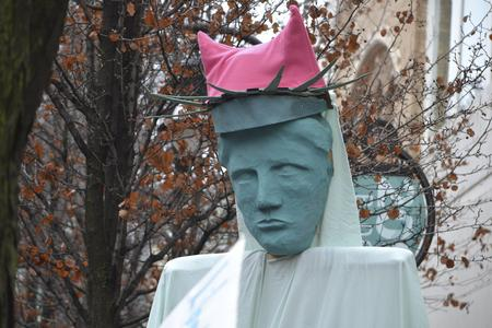 Statue of liberty with pussy hat