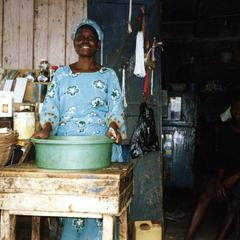 Woman at shop in Osun