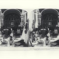 U.S. field hospital set up in Santa Ana Church, 1899