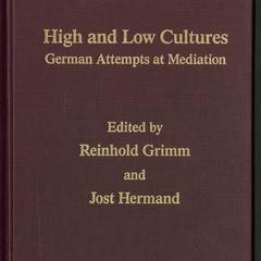 High and low cultures : German attempts at mediation
