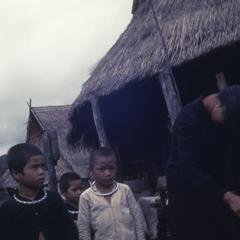 Ethnic Phuan woman and children