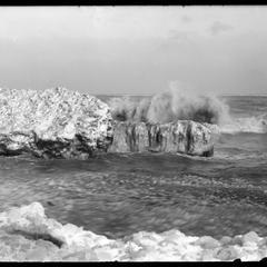 February storm, Calkins Bay