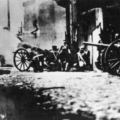 Japanese artillery firing on East Baoxing Road 東寳興路