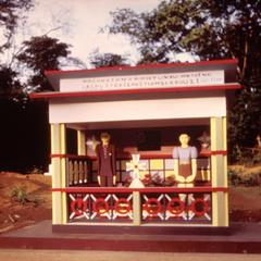 Wooden Monument on Grave in Bas-Congo