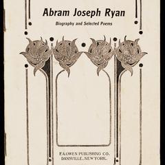 Selected poems of Abram Joseph Ryan