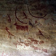 Petroglyph : Boats, People, and Animals