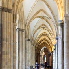 Chichester Cathedral interior nave aisle